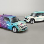Program & Corporate branded Mini vehicle graphics